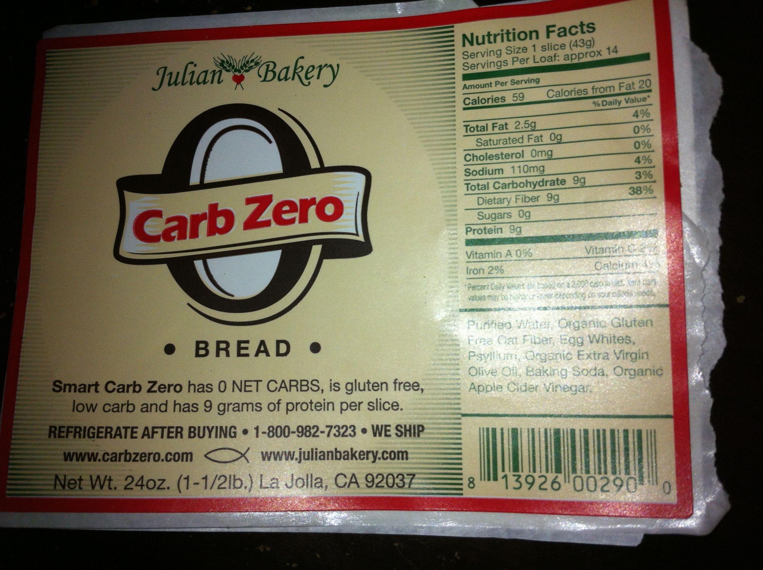 0 Carb Bread  Food Find Julian Bakery Carb ZERO Bread Gina Aliotti