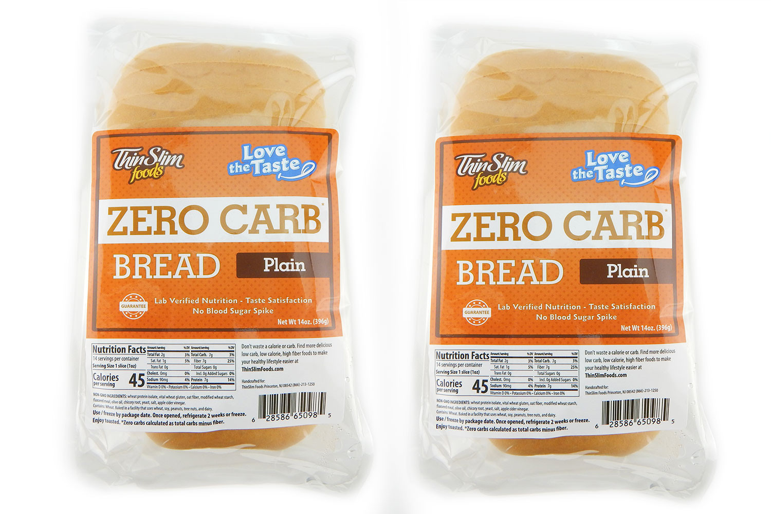 0 Carb Bread  ThinSlim Foods Love the Taste Low Carb Bread Plain 2pack