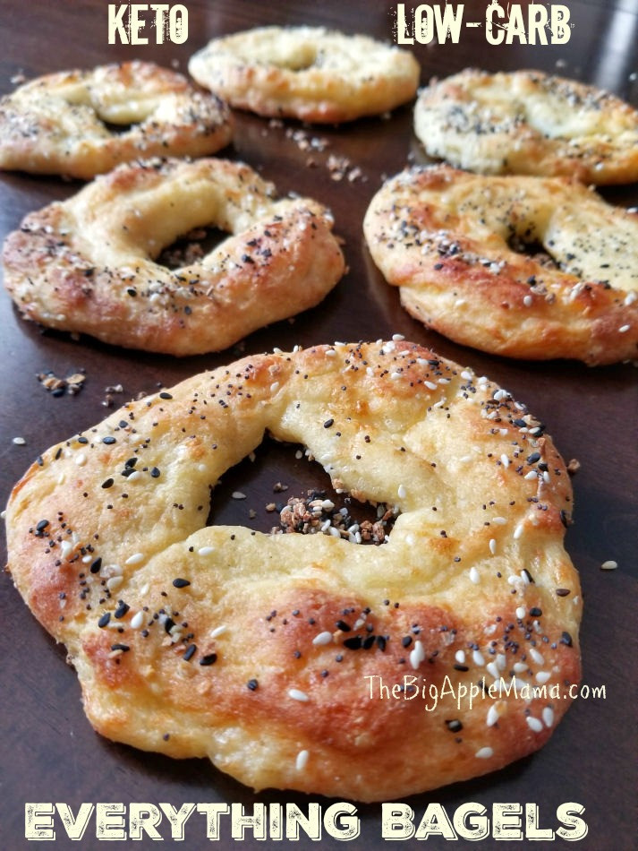 Air Fryer Keto Bagels  Keto Low Carb Everything Bagels Daily Yum