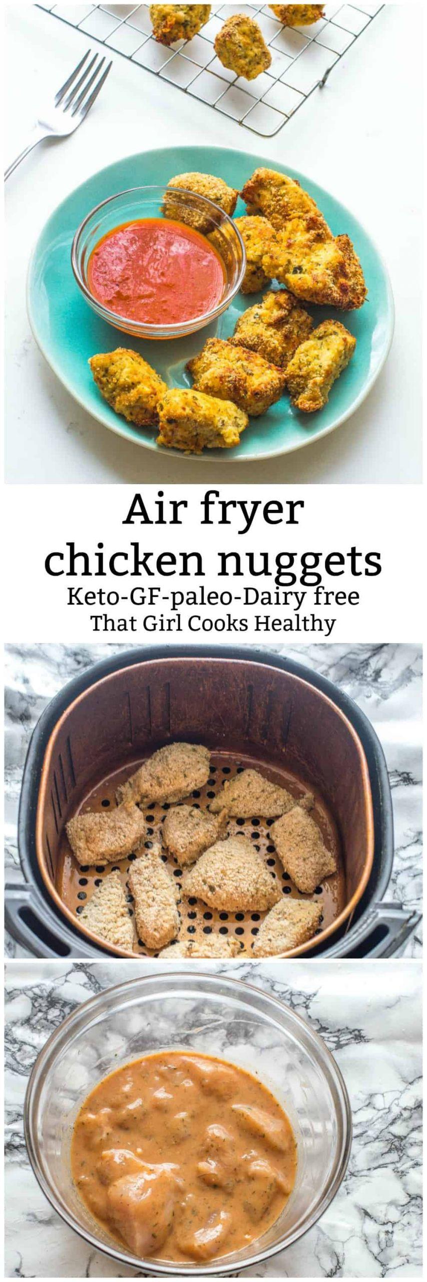 Air Fryer Keto Chicken Nuggets  Air fryer chicken nug s Keto GF Paleo That Girl