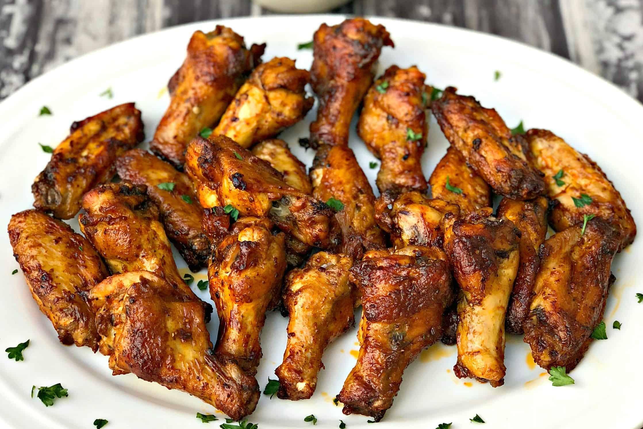 Air Fryer Keto Chicken Wings  Air Fryer Crispy Buffalo Chicken Hot Wings Keto Low Carb