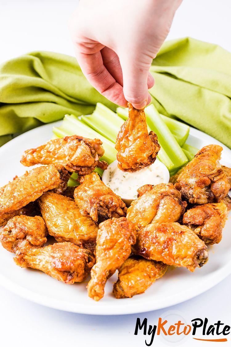 Air Fryer Keto Chicken Wings  Crispy Air Fryer Chicken Wings with Buffalo Sauce Keto