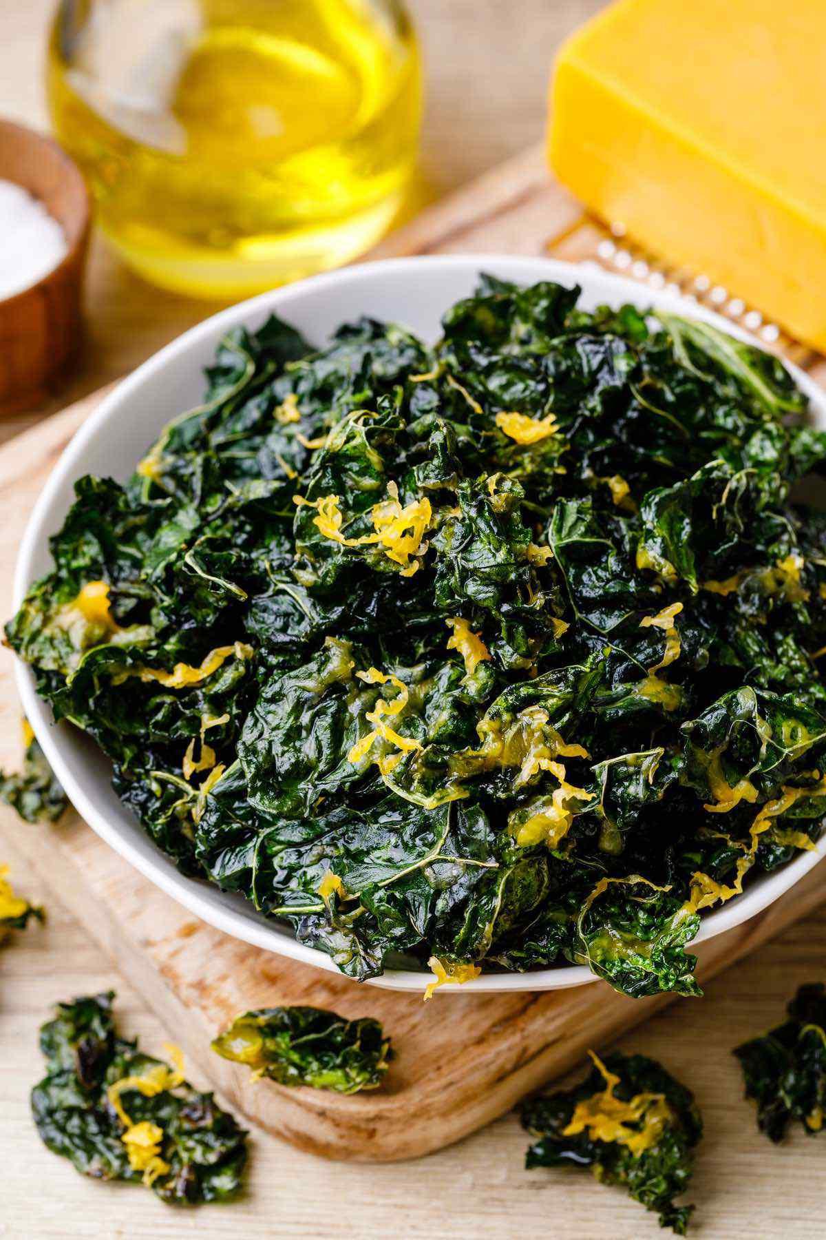 Air Fryer Keto Chips  Cheesy Keto Kale Chips Air Fryer Kale Chip Recipe