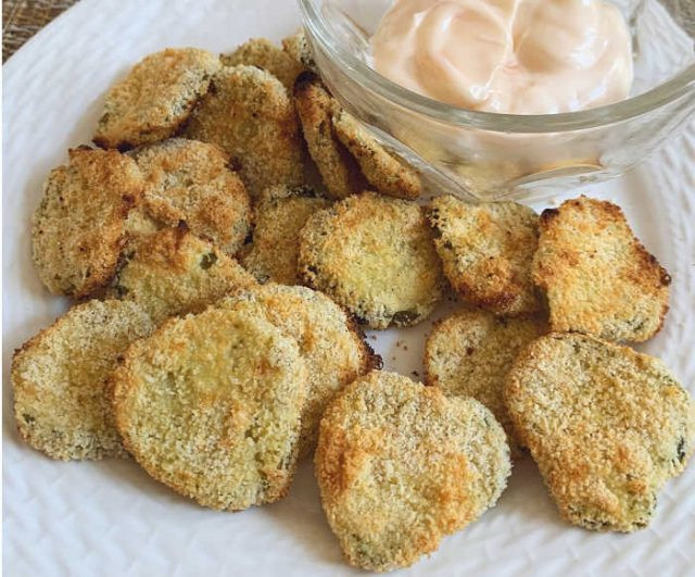 Air Fryer Keto Fried Pickles  Air Fryer Fried Pickles Keto Low Carb Linneyville