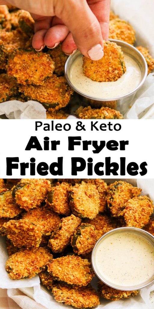 Air Fryer Keto Fried Pickles  Keto Air Fryer Fried Pickles Paleo Whole30