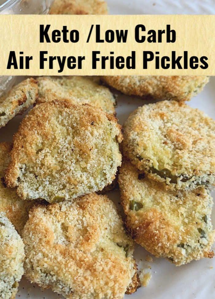 Air Fryer Keto Fried Pickles  Keto Air Fryer Fried Pickles Recipe in 2020