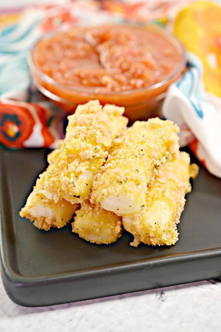 Air Fryer Keto Snacks  BEST Keto Mozzarella Sticks Low Carb Air Fryer Cheese
