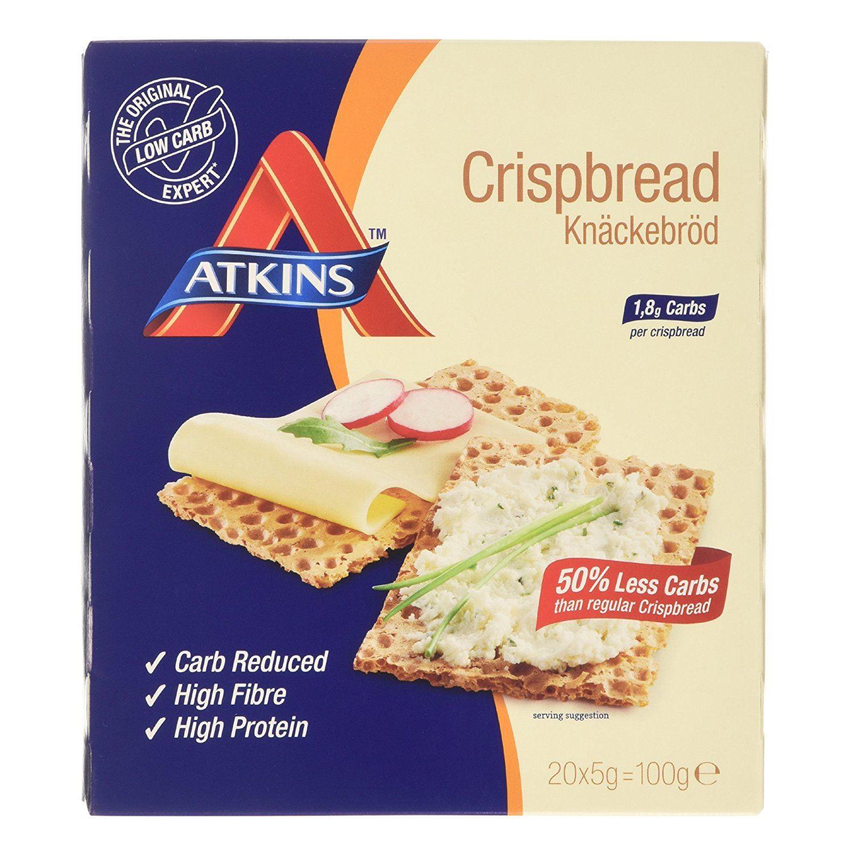 Atkins Low Carb Bread  Atkins Low Carb High Fibre Crispbread Weight Loss 20 x
