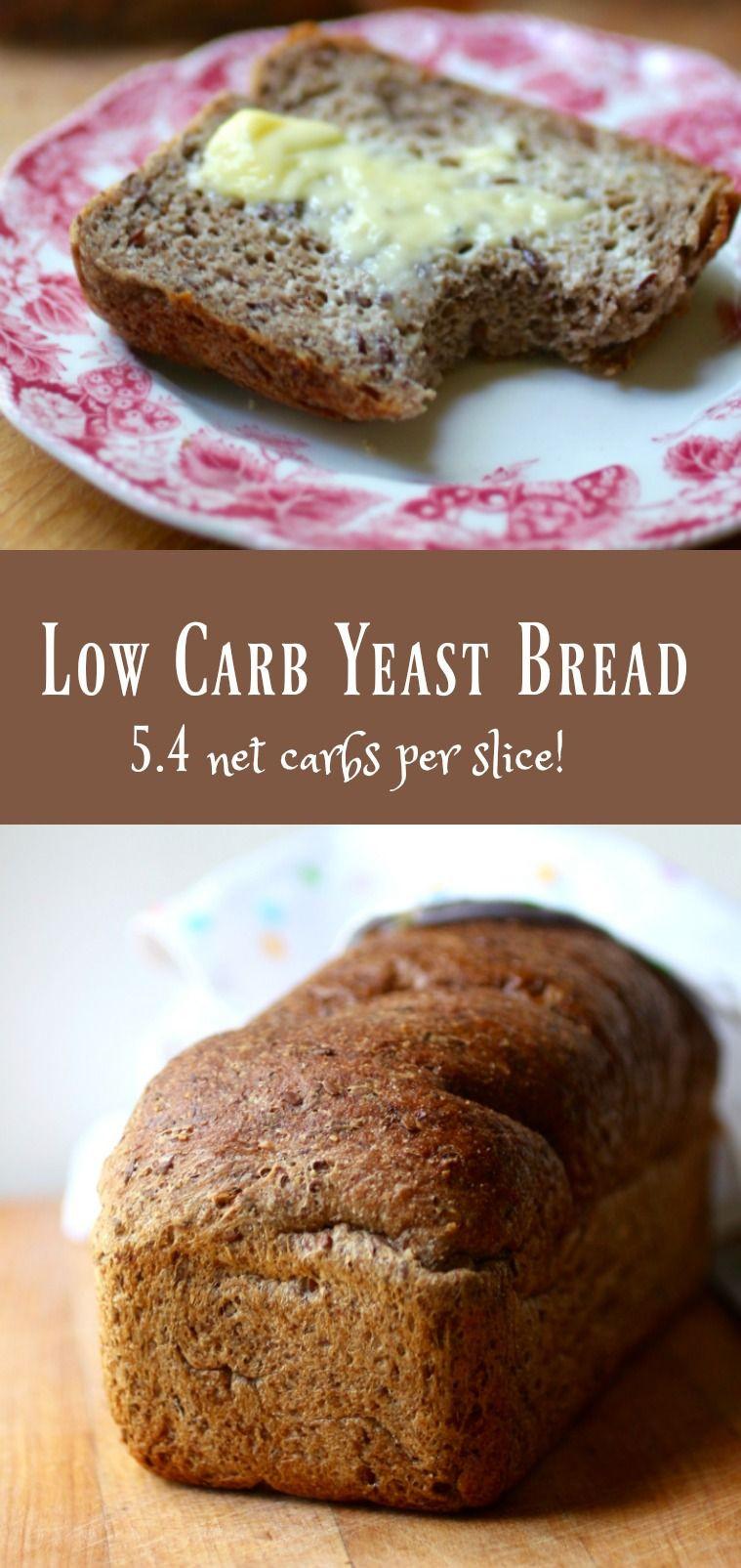 Atkins Low Carb Bread  Low Carb Yeast Bread Keto Sandwich Bread Recipe