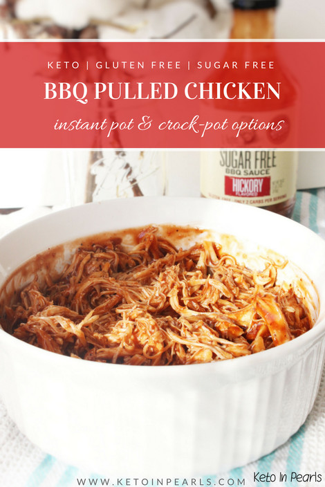 Bbq Chicken Crockpot Keto  BBQ chicken that is keto & sugar free Instant Pot & Crock