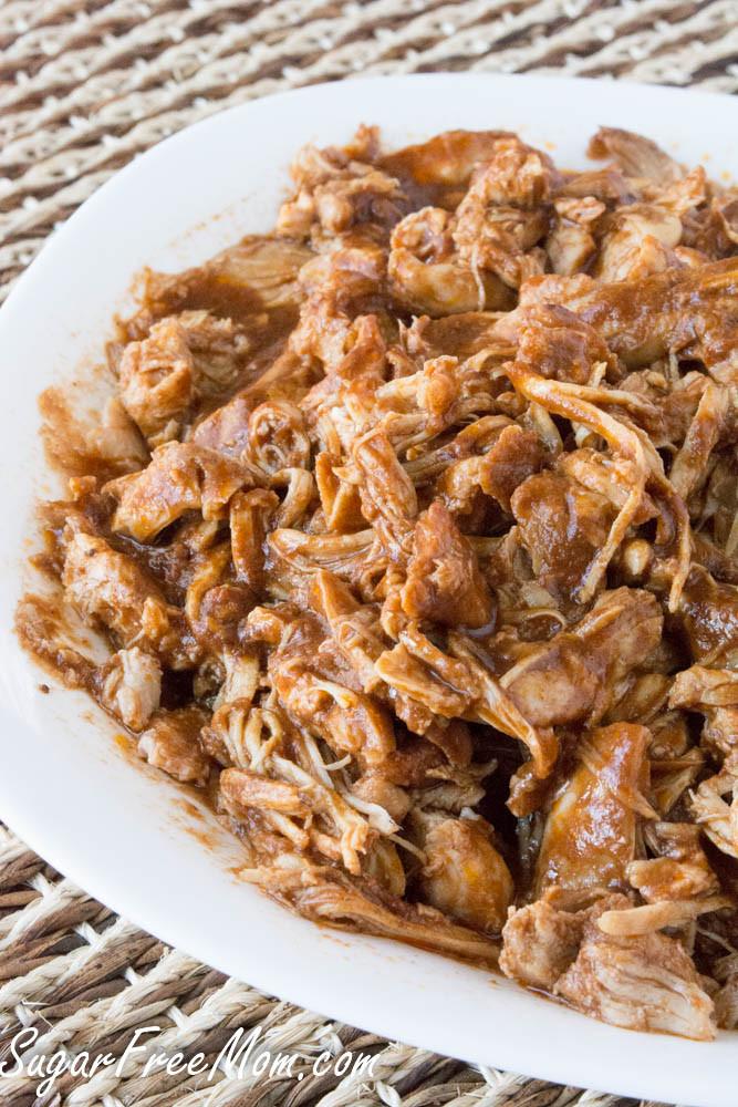 Bbq Chicken Crockpot Keto  Crock Pot Sugar Free BBQ Pulled Chicken Keto