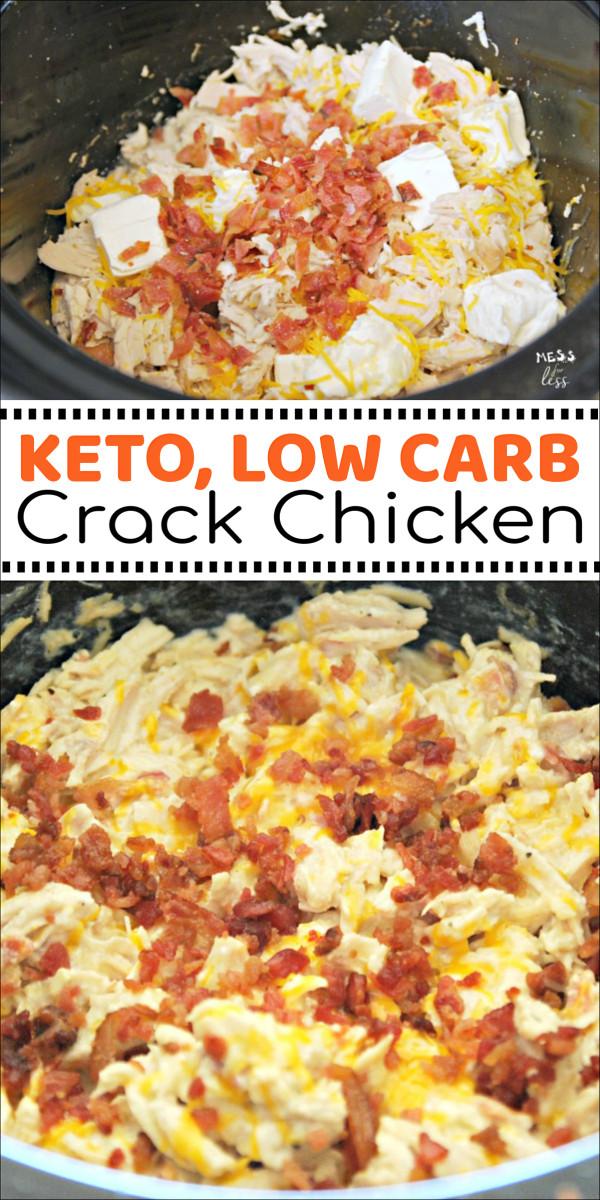 Bbq Chicken Crockpot Keto  Keto Crack Chicken in the Crock Pot Mess for Less