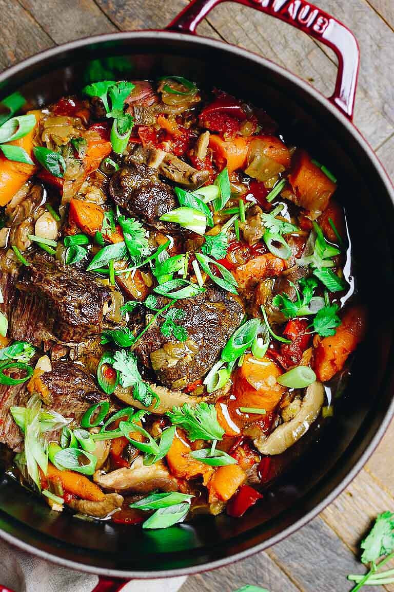 Beef Stew Meat Recipes Instant Pot Keto  Instant Pot Taiwanese Beef Stew Paleo Whole30 Keto