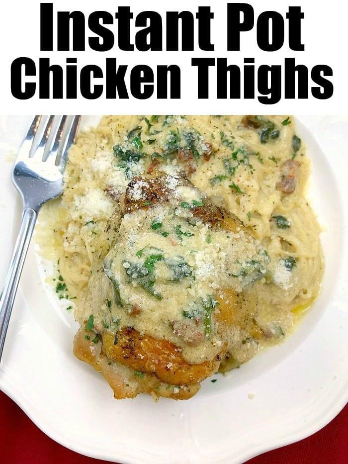 Bone In Chicken Thighs Instant Pot Keto  Instant Pot chicken thighs bone in dinner with a creamy