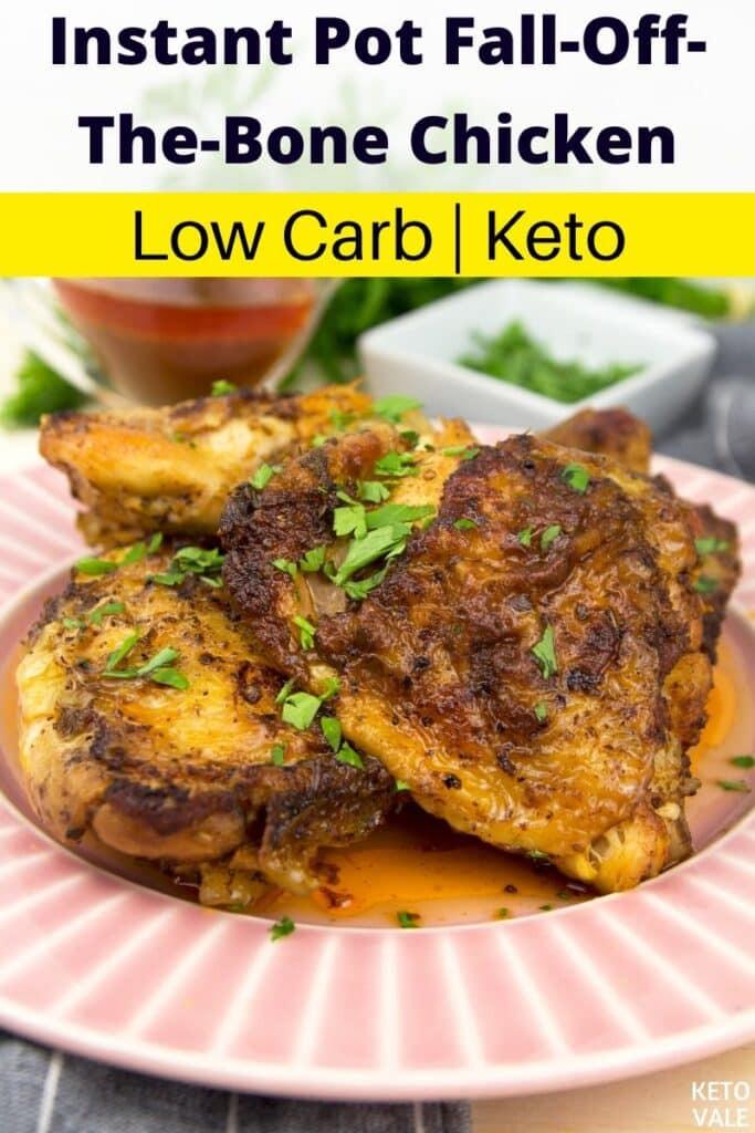 Bone In Chicken Thighs Instant Pot Keto  Easy Instant Pot Fall f The Bone Chicken Thighs Low Carb