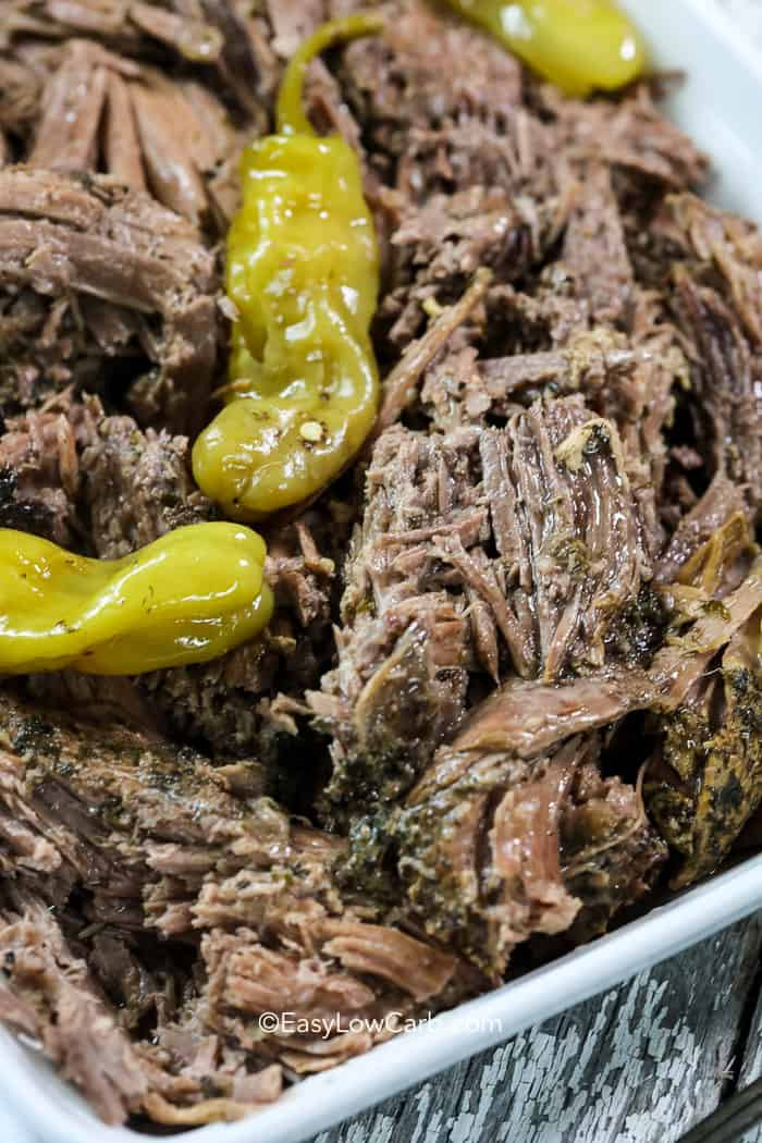 Bottom Round Roast Slow Cooker Keto  Crockpot Mississippi Roast low carb keto Easy Low Carb