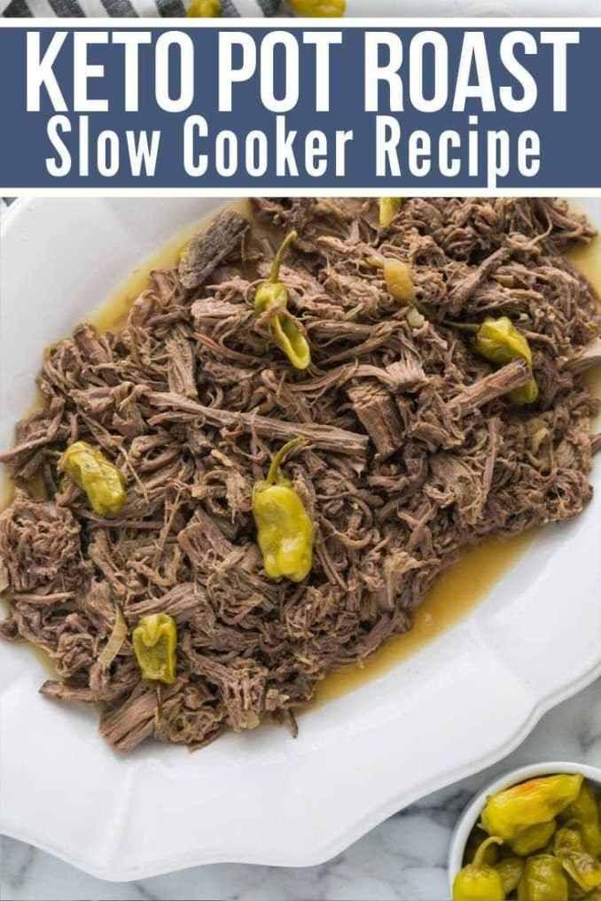 Bottom Round Roast Slow Cooker Keto  Keto Pot Roast low carb Recipe