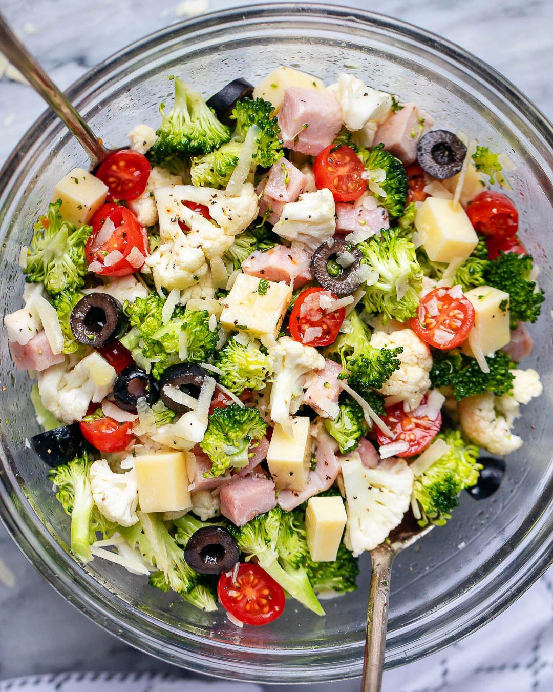 Broccoli Cauliflower Keto  Keto Cauliflower Broccoli Ham Salad Recipe – Cauliflower