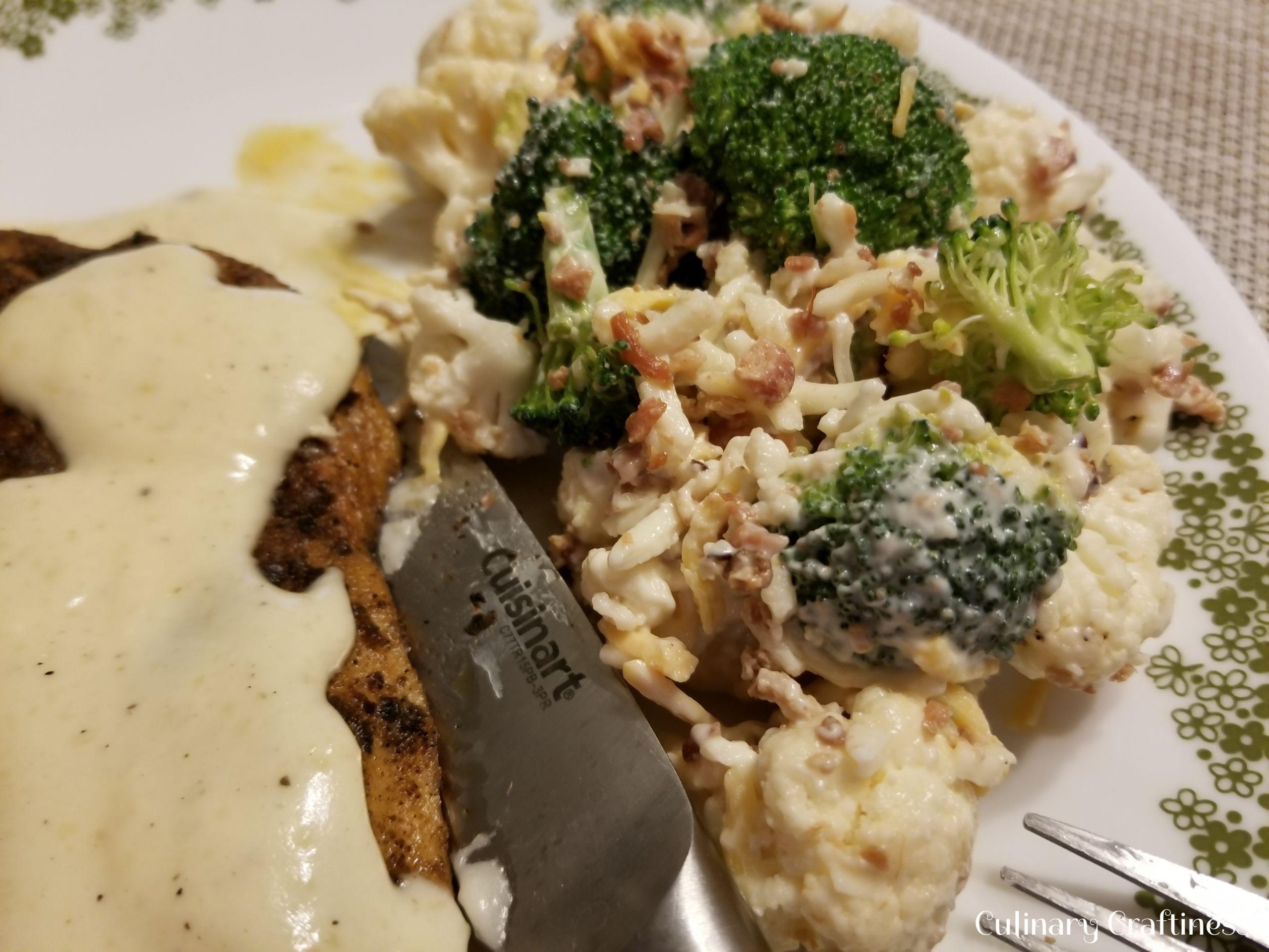 Broccoli Cauliflower Keto  Keto Broccoli Cauliflower Bacon & Cheese Salad