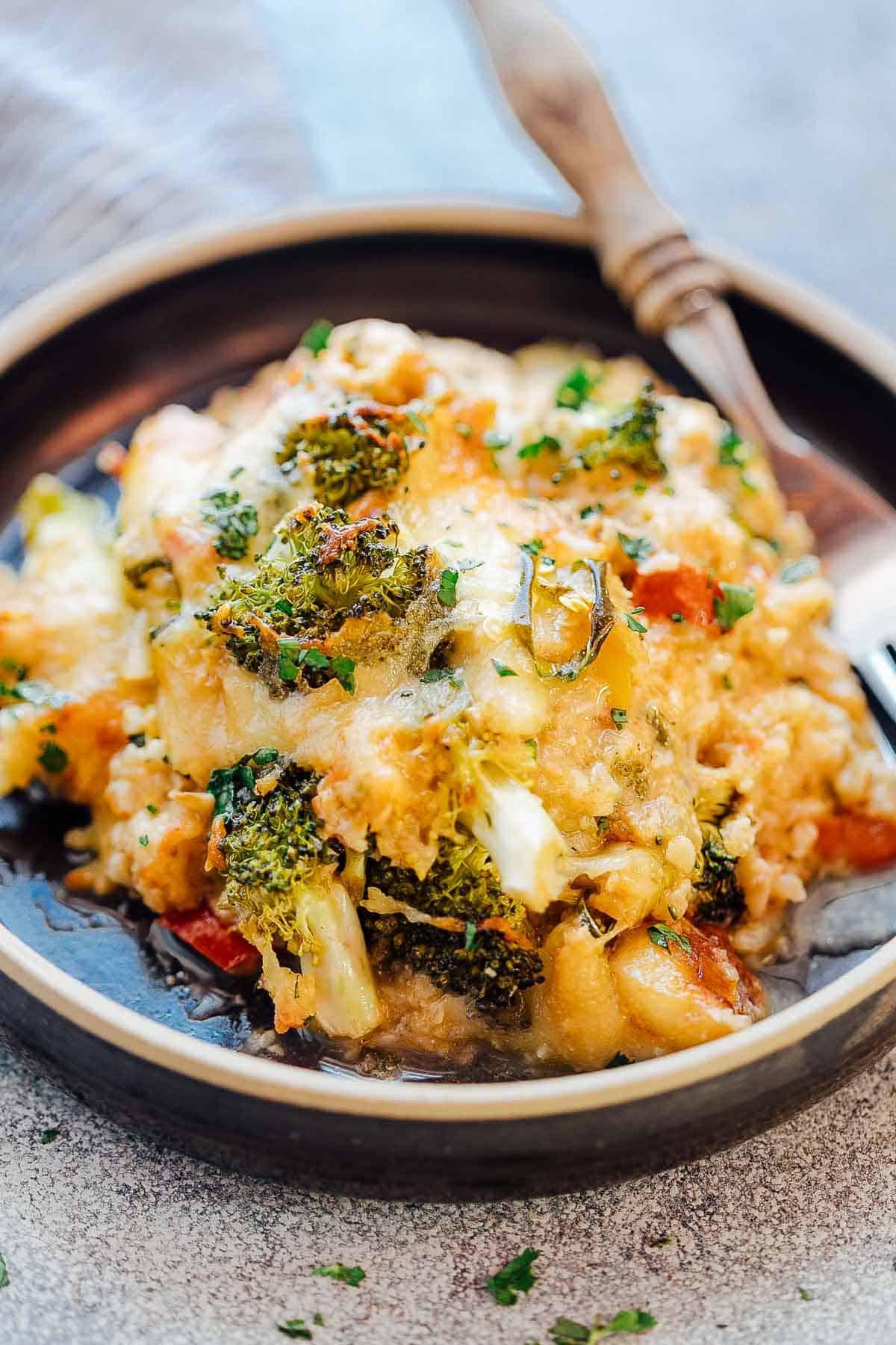Broccoli Cauliflower Keto  Healthy Cauliflower Rice Broccoli Casserole Keto Gluten