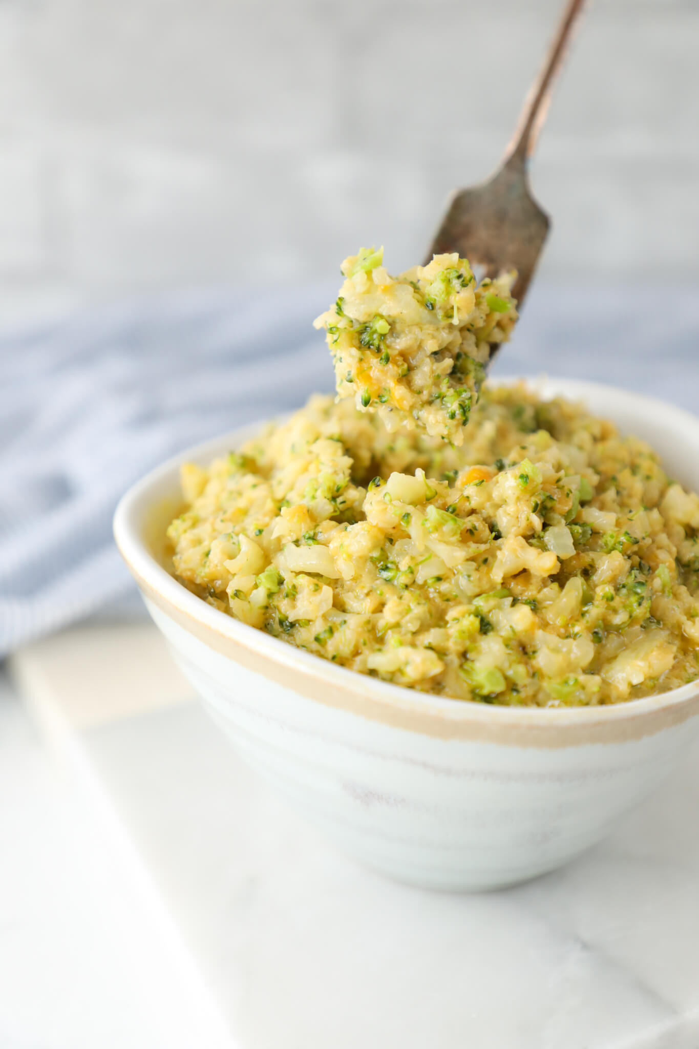 Broccoli Cauliflower Keto  Keto Cheesy Broccoli & Cauliflower Rice