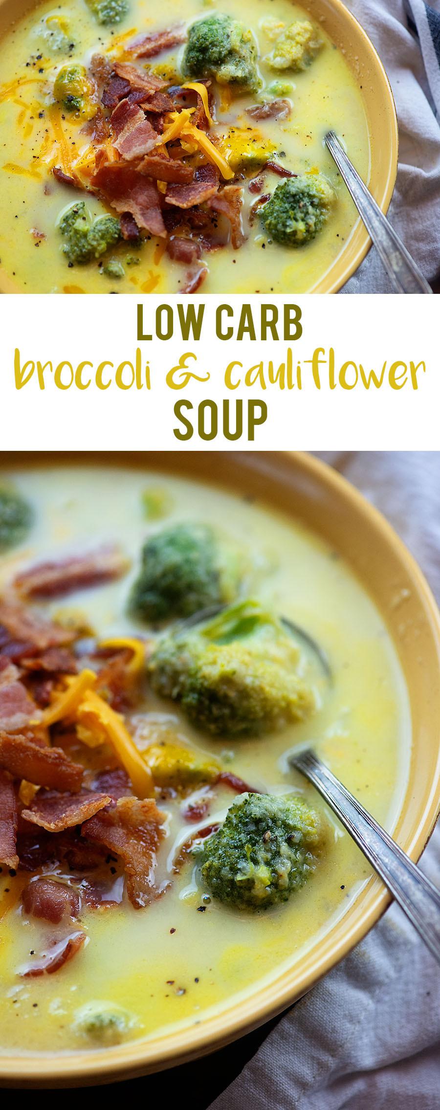 Broccoli Cauliflower Keto  Broccoli Cauliflower Soup