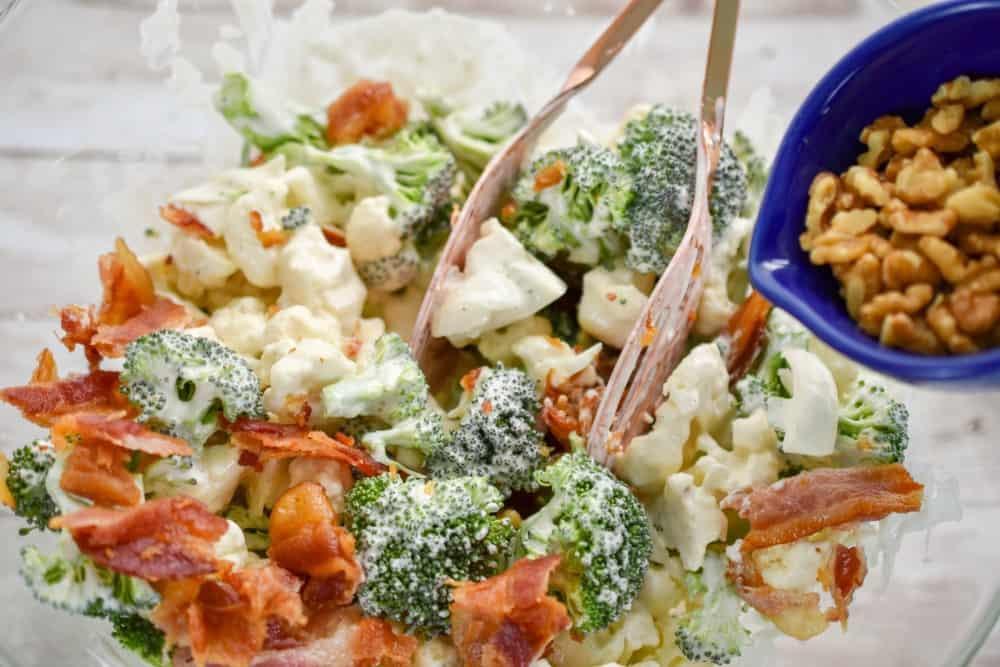 Broccoli Cauliflower Keto  How To Make A Delicious Keto Broccoli Cauliflower Salad