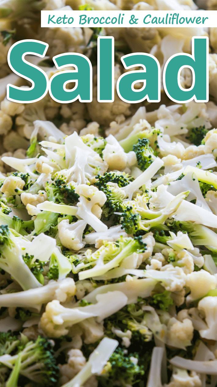 Broccoli Cauliflower Keto  Re mended Tips Keto Broccoli Cauliflower Salad