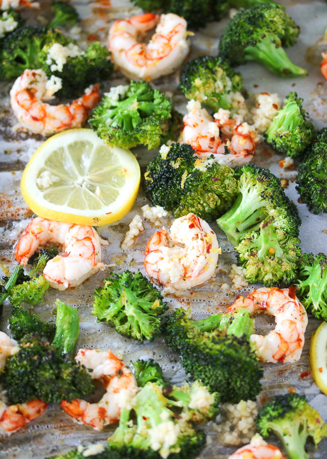 Broccoli Shrimp Keto  Just Jessie B Lemon Garlic Shrimp & Broccoli Sheet Pan