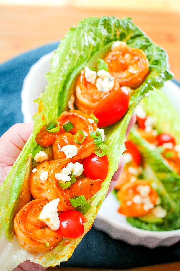 Buffalo Shrimp Keto  Low Carb Buffalo Shrimp Lettuce Wraps The Endless Appetite