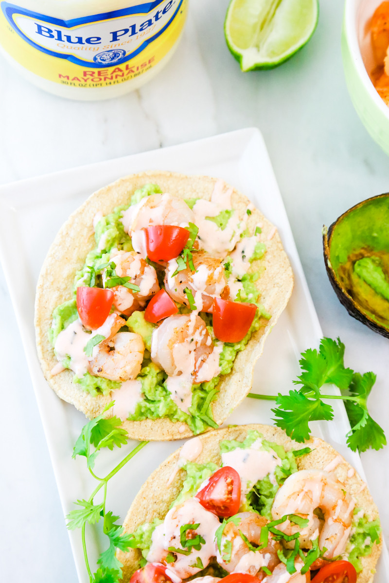 Buffalo Shrimp Keto  Keto Shrimp Tostadas with Buffalo Aioli