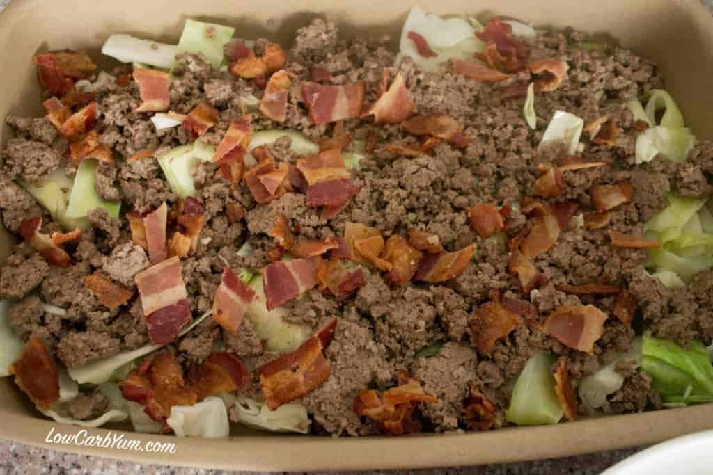 Cabbage And Beef Keto  Creamed Cabbage Ground Beef Casserole