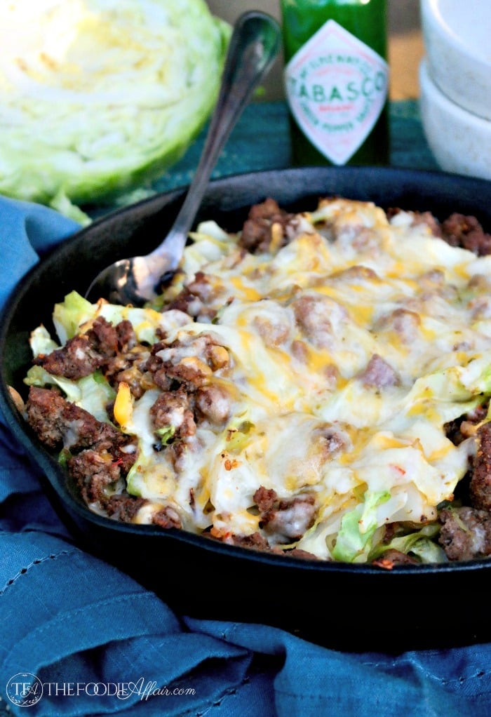 Cabbage Ground Beef Keto  Cabbage Beef Skillet Tex Mex Style with Mexican Cheese Blend