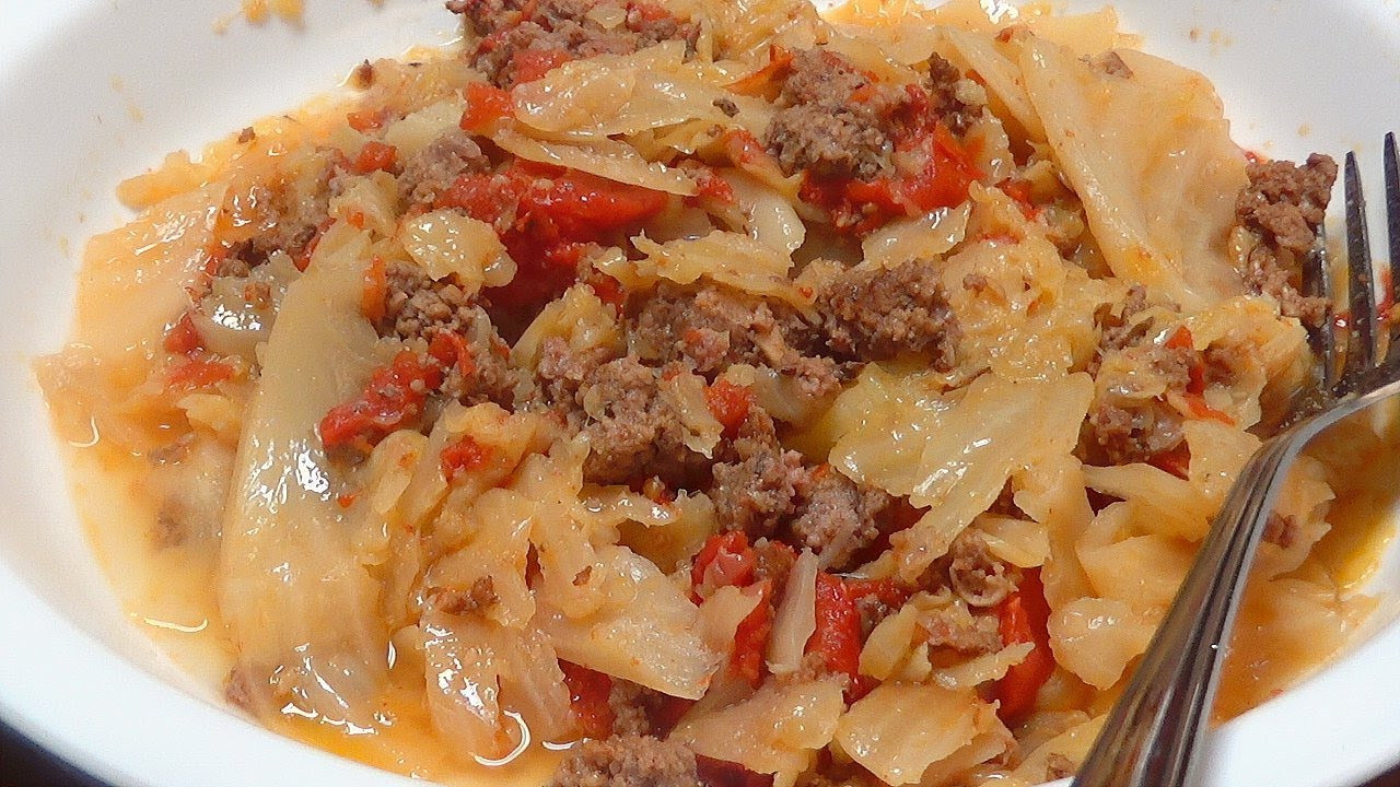 Cabbage Ground Beef Keto  Instant Pot Keto Ground Beef Cabbage and Tomatoes PLUS My