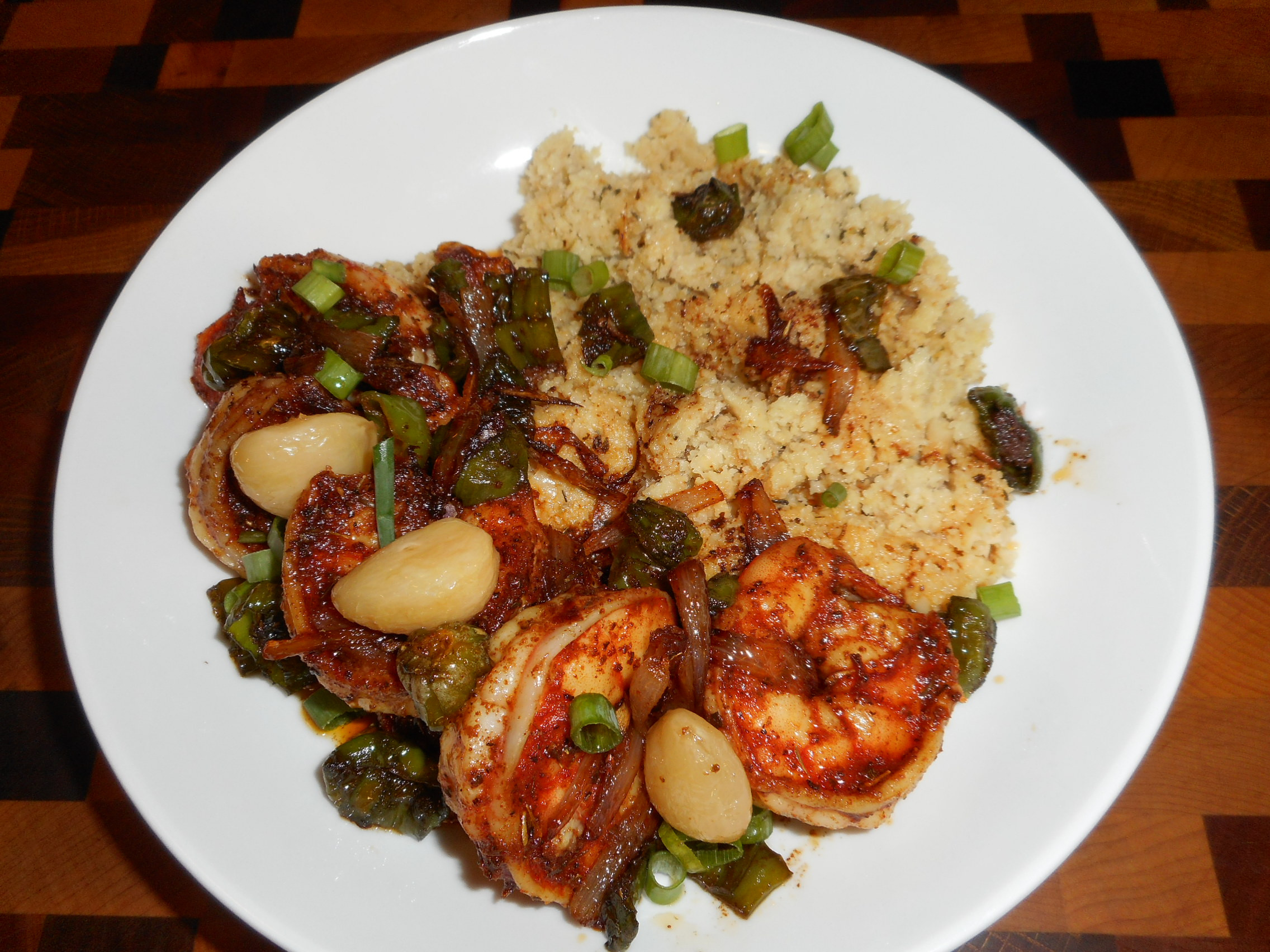Cajun Shrimp Keto  Keto Cajun Shrimp Peppers & Grits LowCarb Diabetic Chef s