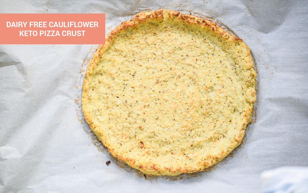 Cauliflower Keto Pizza  Dairy Free Cauliflower Pizza Crust Recipe Perfect Keto