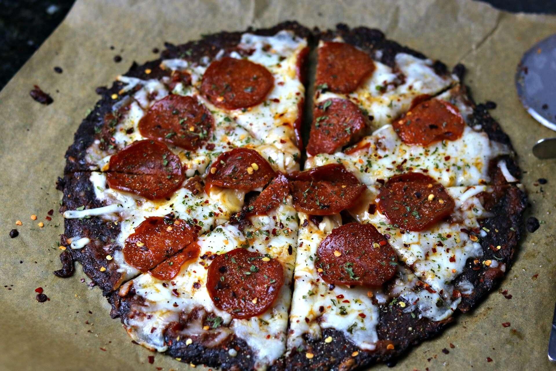 Cauliflower Keto Pizza  Keto Pepperoni Cauliflower Crust Pizza