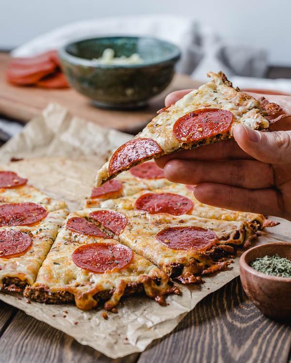 Cauliflower Keto Pizza  Keto Cauliflower Pizza Crust