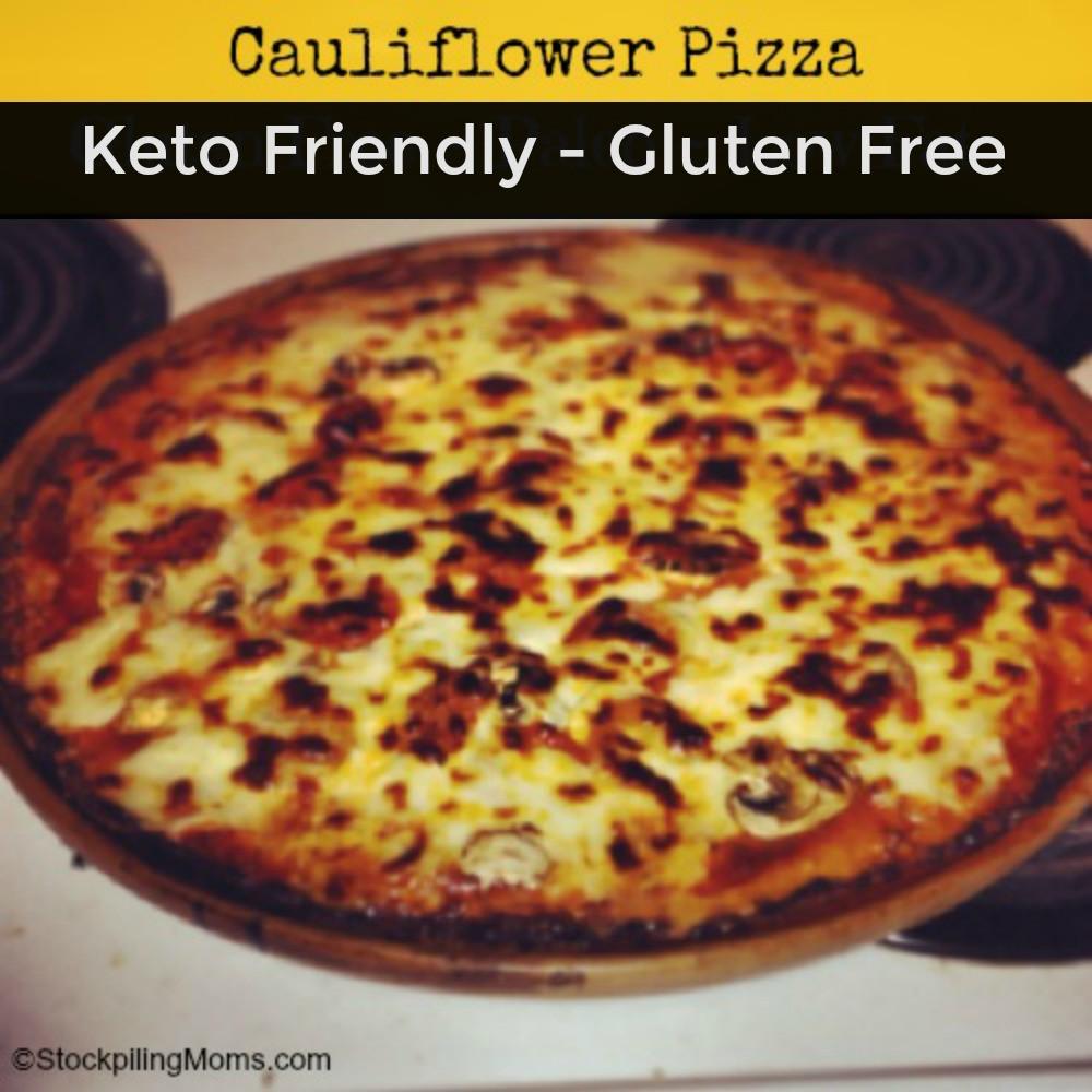 Cauliflower Keto Pizza  Cauliflower Pizza – Keto Friendly