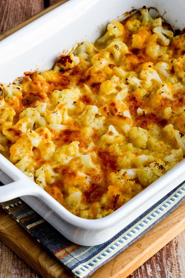 Cauliflower Keto Recipes Easy  Easy Cheesy Baked Keto Cauliflower Video Kalyn s Kitchen