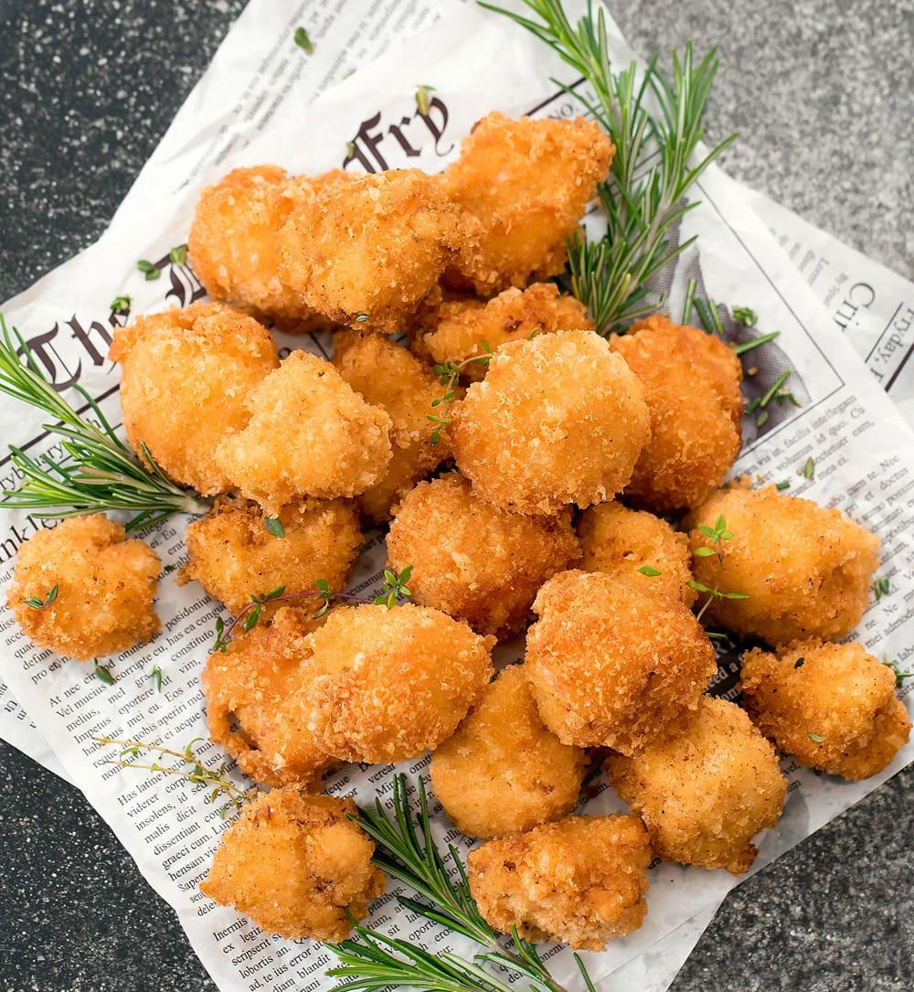 Cauliflower Keto Recipes Videos  Crispy Low Carb Keto Cauliflower Bites Kirbie s Cravings