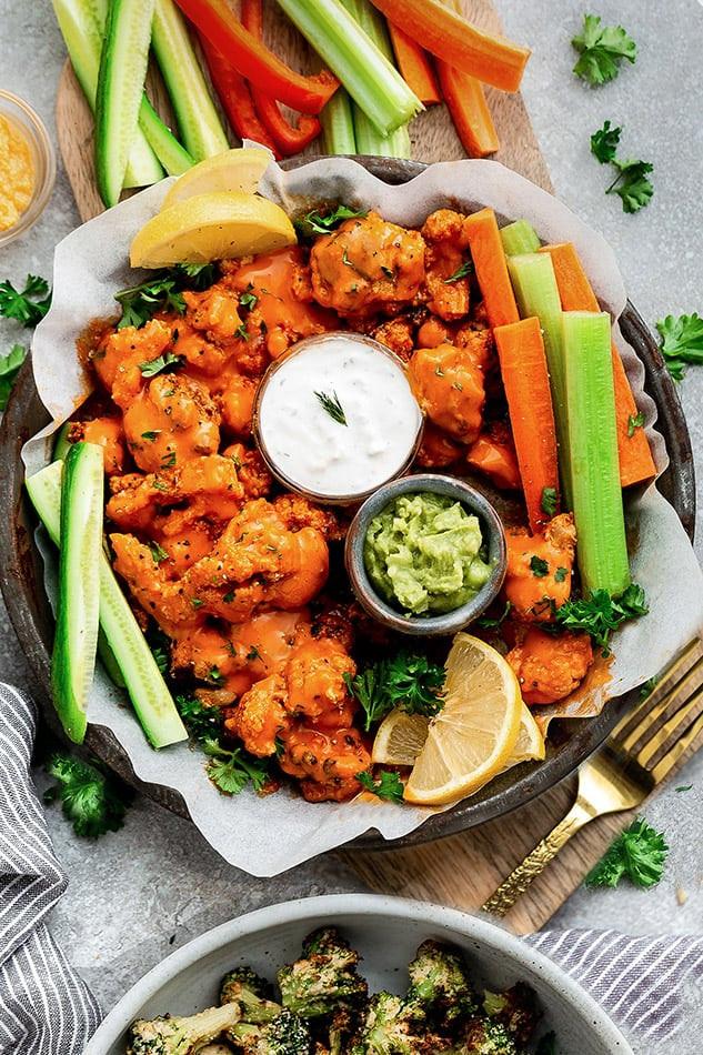 Cauliflower Keto Wings  Cauliflower Wings – Vegan Keto Paleo