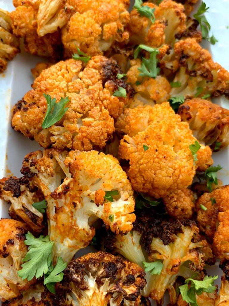 Cauliflower Keto Wings  Easy Air Fryer Buffalo Cauliflower VIDEO