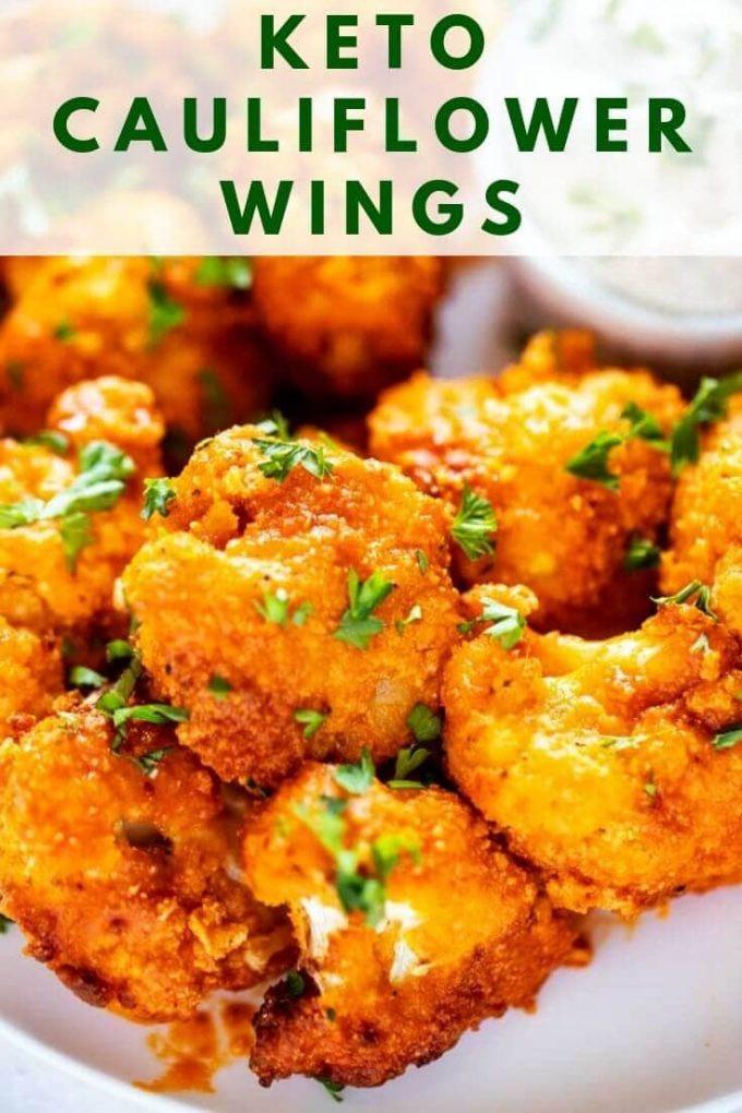 Cauliflower Keto Wings  Keto Cauliflower Wings Air Fryer or Oven Gluten Free