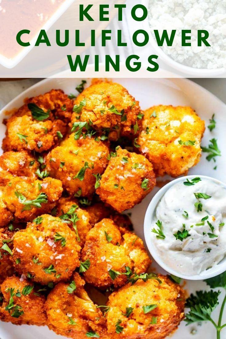 Cauliflower Keto Wings  Keto Cauliflower Wings Recipe