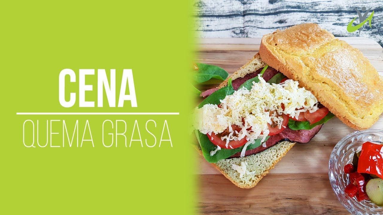 Cenas Keto Videos  CENA Sencilla para Adelgazar Rápidamente Keto Sandwich