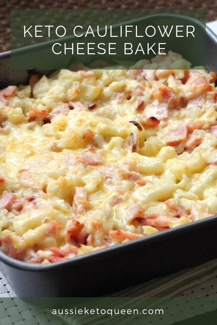 Cheese Cauliflower Keto Keto Cauliflower Cheese Bake