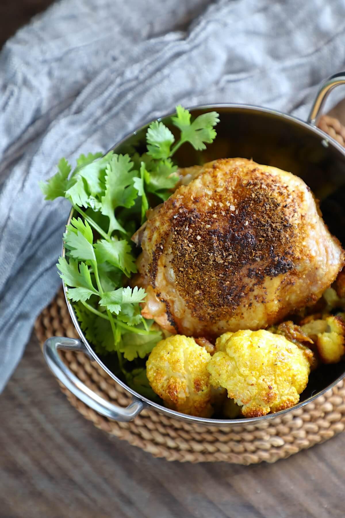 Clean Keto Chicken  Keto Sheet Pan Curried Chicken SCKC