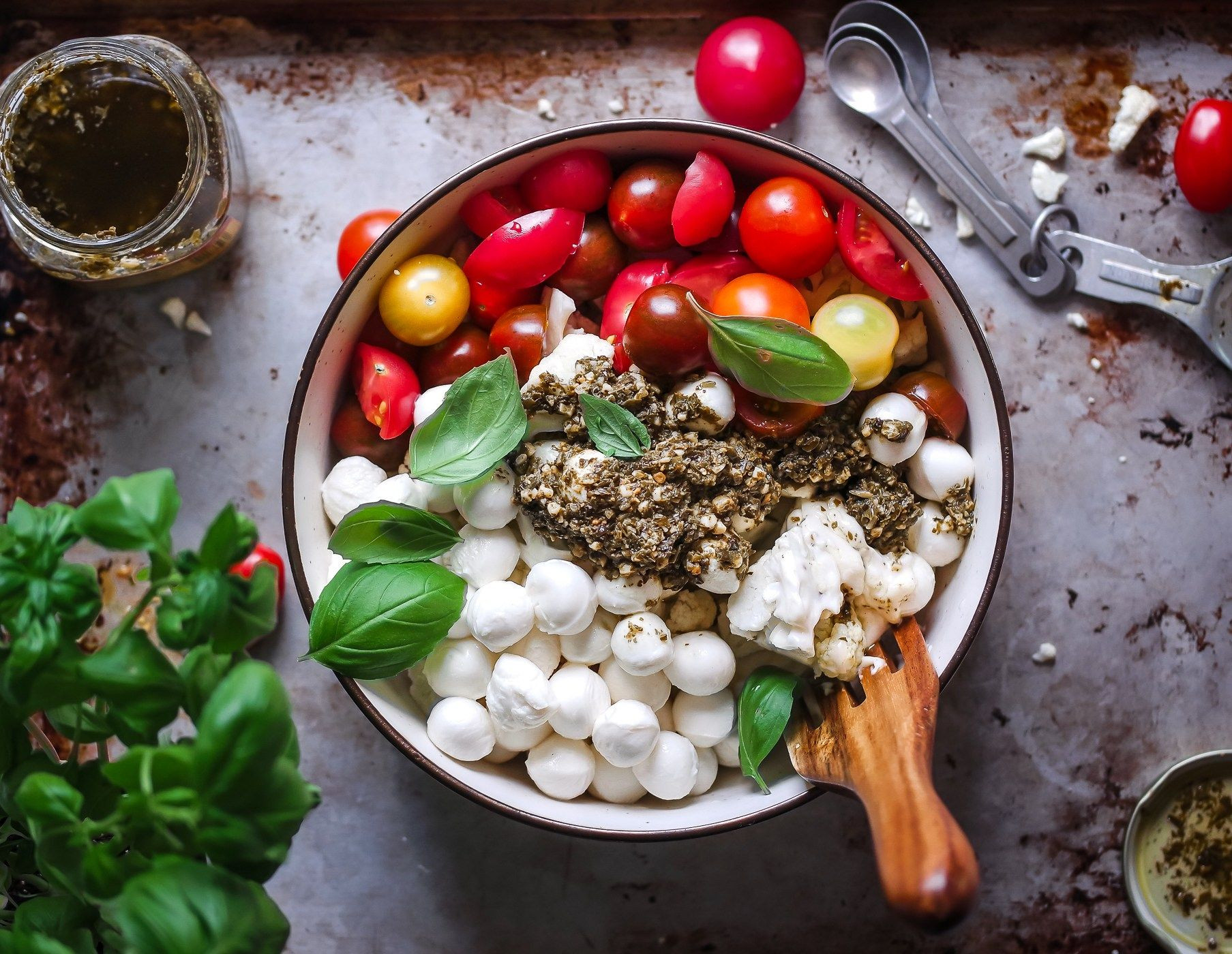 Clean Keto Salads  Keto Cauliflower Caprese Salad Recipe
