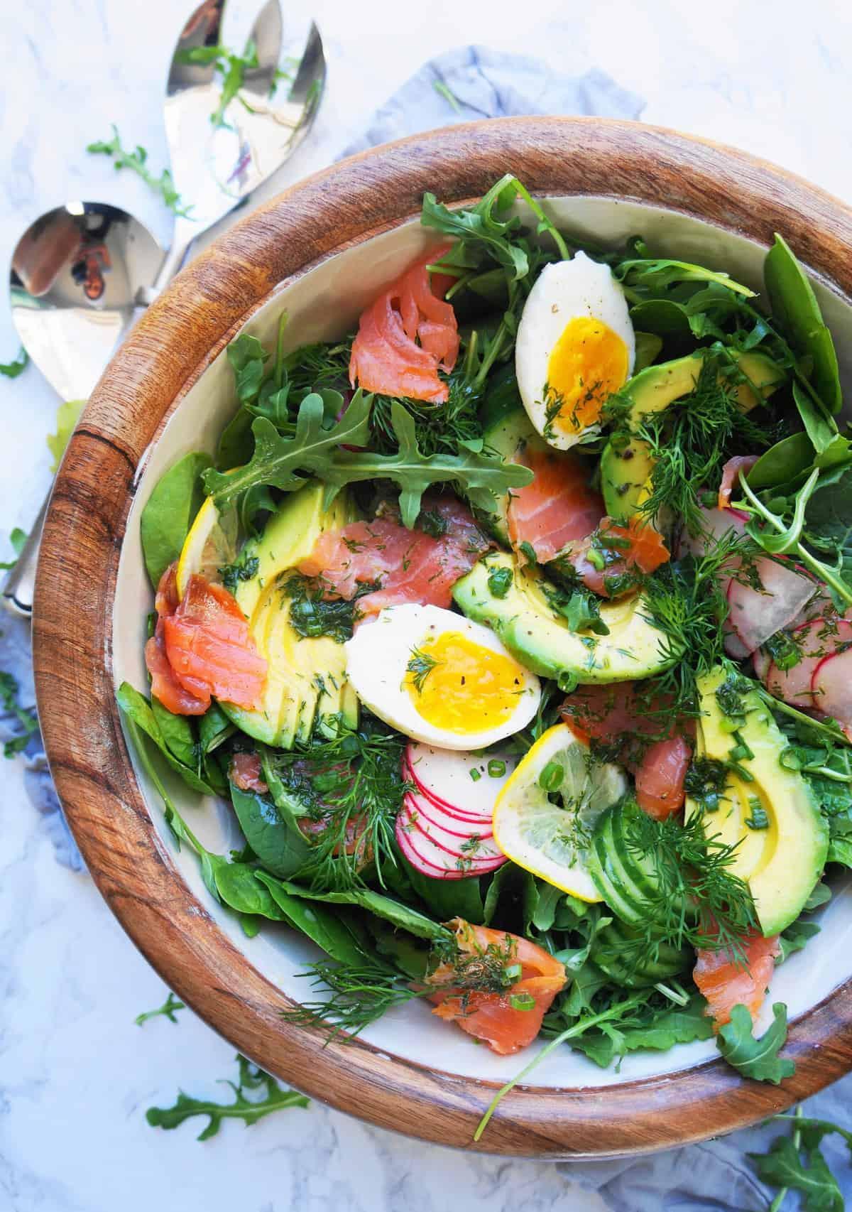 Clean Keto Salads  Keto Smoked Salmon Salad with Lemon Vinaigrette